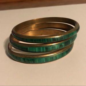 Jewelry - African malachite bracelet bangles